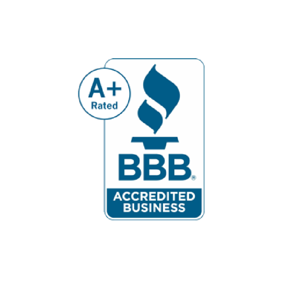A plus rating from the better business bureau