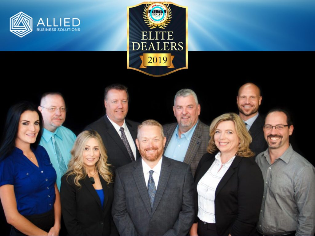 Allied Business Solutions Team with Elite Dealers 2019 Logo