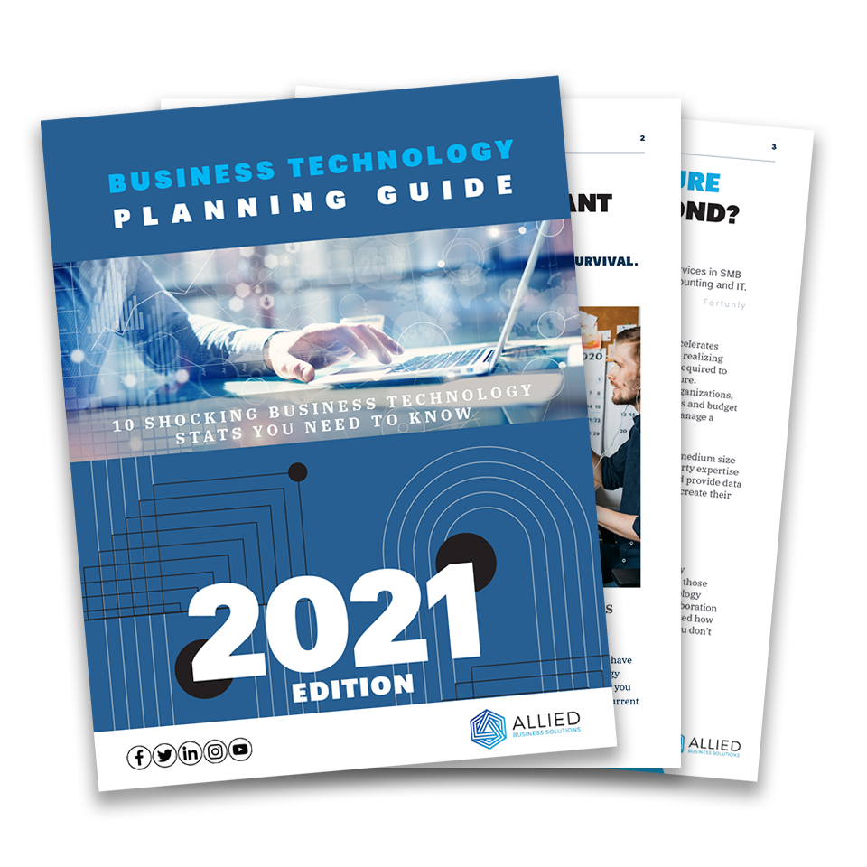 Cover and first pages of Business technology planning guide, 2021 edition