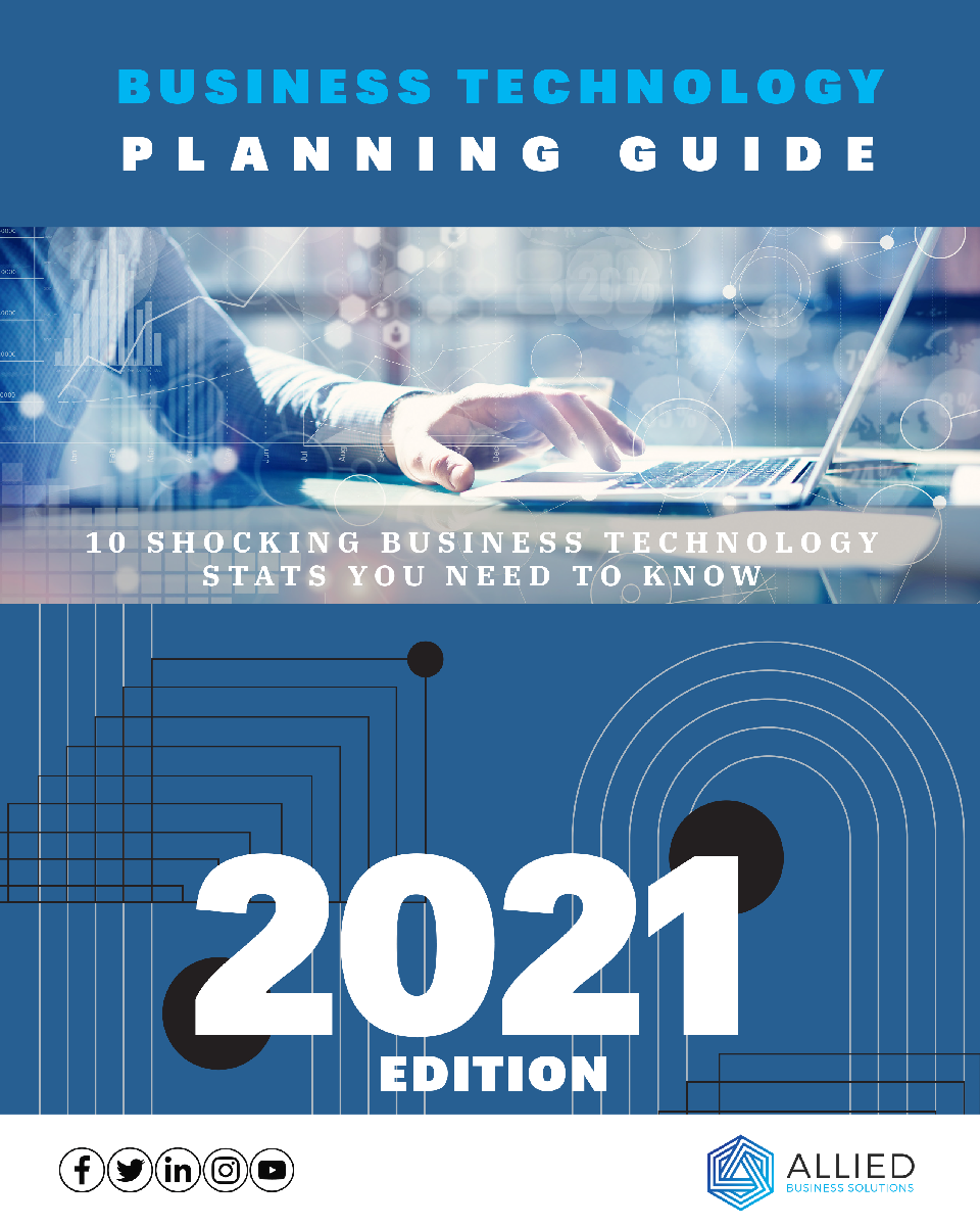 front cover of business technology planning guide, 2021 edition