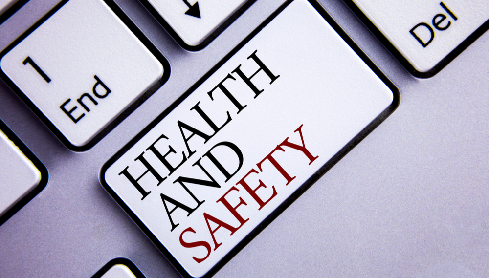 Keyboard with health and safety key